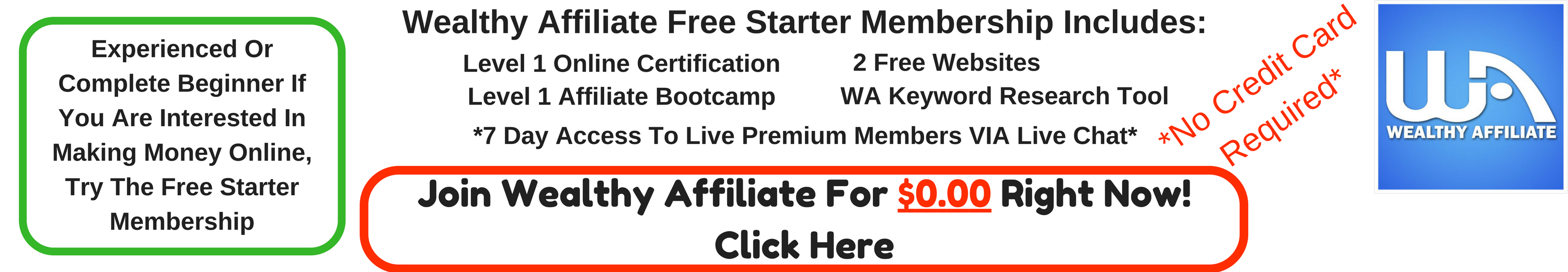 Wealthy Affiliate Free Membership Includes: