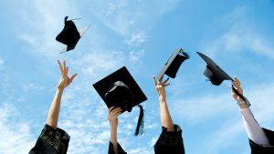 throwing college graduation caps