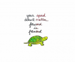 Your speed doesnt matter, forward is forward