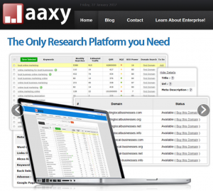 Jaaxy Home Page