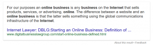 Definition Of Online Business