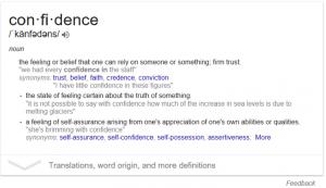 Definiton Of Confidence