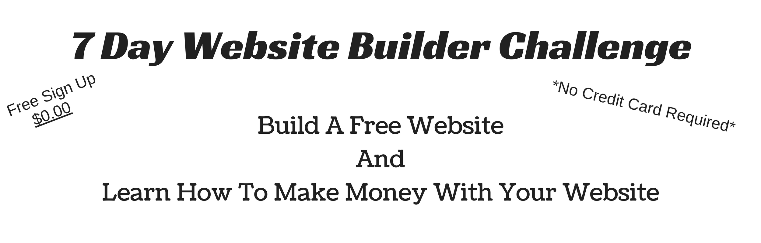 Build A Free Website Learn How To Make Money With Your Website