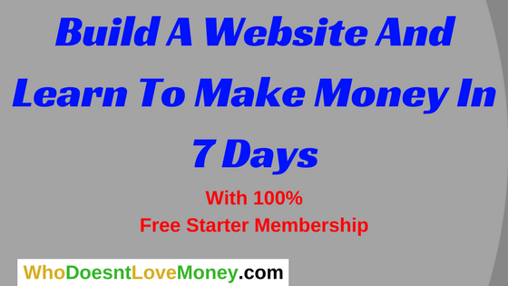 Build A Website And Learn To Make Money In 7 Days | WhoDoesntLoveMoney.com